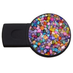 Colored Pebbles Usb Flash Drive Round (4 Gb)  by trendistuff