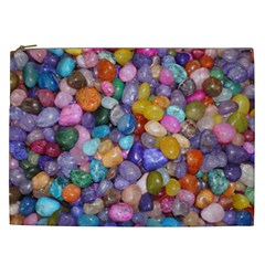 Colored Pebbles Cosmetic Bag (xxl)  by trendistuff