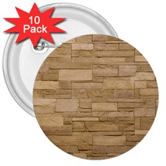 Block Wall 2 3  Buttons (10 Pack)  by trendistuff
