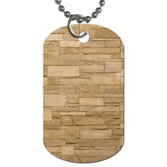 Block Wall 2 Dog Tag (one Side) by trendistuff