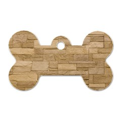 Block Wall 2 Dog Tag Bone (one Side) by trendistuff