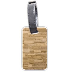 Block Wall 2 Luggage Tags (one Side)  by trendistuff