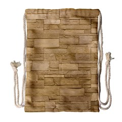 Block Wall 2 Drawstring Bag (large) by trendistuff