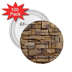 Block Wall 1 2 25  Buttons (100 Pack)  by trendistuff