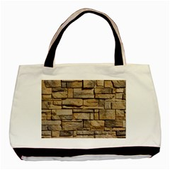 Block Wall 1 Basic Tote Bag (two Sides)  by trendistuff