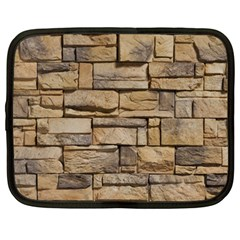 Block Wall 1 Netbook Case (large) by trendistuff
