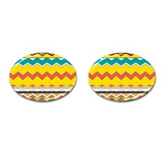Zig Zag Cufflinks (oval) by LalyLauraFLM
