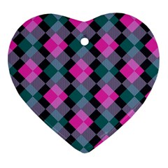 Argyle Variation Ornament (heart) by LalyLauraFLM