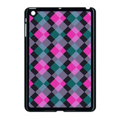 Argyle Variation Apple Ipad Mini Case (black) by LalyLauraFLM