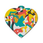 Cubist art Dog Tag Heart (One Side) Front