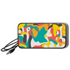 Cubist Art Portable Speaker by LalyLauraFLM