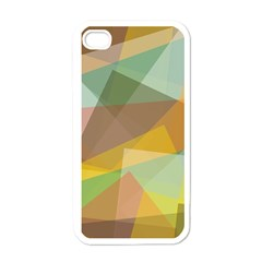 Fading Shapes Apple Iphone 4 Case (white) by LalyLauraFLM