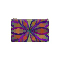 Fly Mandala Cosmetic Bag (small)  by Valeryt