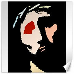Christ Canvas 12  X 12   by Valeryt