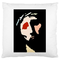 Christ Large Flano Cushion Cases (two Sides)  by Valeryt
