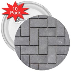 Alternating Grey Brick 3  Buttons (10 Pack)  by trendistuff