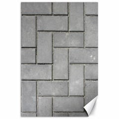 Alternating Grey Brick Canvas 24  X 36  by trendistuff