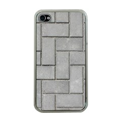Alternating Grey Brick Apple Iphone 4 Case (clear) by trendistuff