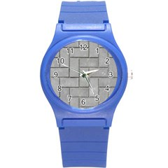 Alternating Grey Brick Round Plastic Sport Watch (s) by trendistuff