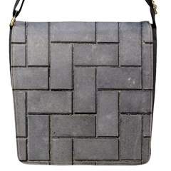 Alternating Grey Brick Flap Messenger Bag (s) by trendistuff