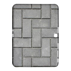 Alternating Grey Brick Samsung Galaxy Tab 4 (10 1 ) Hardshell Case  by trendistuff