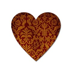 Royal Red And Gold Heart Magnet by trendistuff