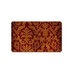 Royal Red And Gold Magnet (name Card) by trendistuff