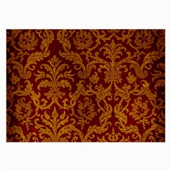 Royal Red And Gold Large Glasses Cloth (2 Side) by trendistuff