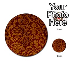 Royal Red And Gold Multi Purpose Cards (round)