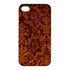 Royal Red And Gold Apple Iphone 4/4s Hardshell Case by trendistuff