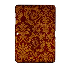 Royal Red And Gold Samsung Galaxy Tab 2 (10 1 ) P5100 Hardshell Case  by trendistuff