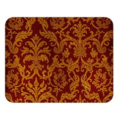 Royal Red And Gold Double Sided Flano Blanket (large)  by trendistuff