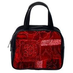 Red Patchwork Classic Handbags (one Side) by trendistuff