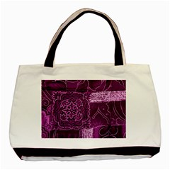 Magenta Patchwork Basic Tote Bag (two Sides)  by trendistuff