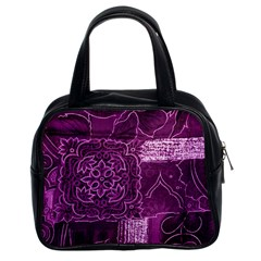 Magenta Patchwork Classic Handbags (2 Sides) by trendistuff