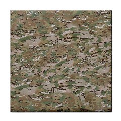 Camo Woodland Faded Tile Coasters by trendistuff