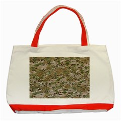 Camo Woodland Faded Classic Tote Bag (red)  by trendistuff