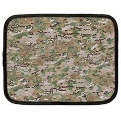 Camo Woodland Faded Netbook Case (xl)  by trendistuff