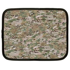 Camo Woodland Faded Netbook Case (xxl)  by trendistuff