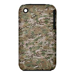 Camo Woodland Faded Apple Iphone 3g/3gs Hardshell Case (pc+silicone) by trendistuff