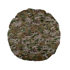 Camo Woodland Faded Standard 15  Premium Round Cushions by trendistuff