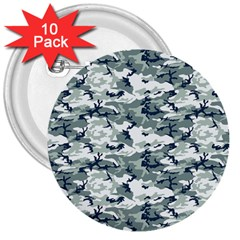 Camo Urban 3  Buttons (10 Pack)  by trendistuff