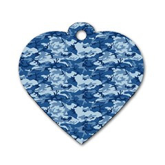 Camo Navy Dog Tag Heart (two Sides) by trendistuff