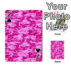 Camo Digital Pink Playing Cards 54 Designs