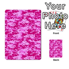 Camo Digital Pink Multi Purpose Cards (rectangle)  by trendistuff