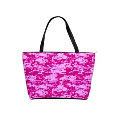 Camo Digital Pink Shoulder Handbags by trendistuff