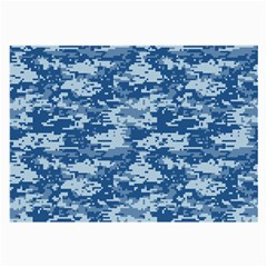 Camo Digital Navy Large Glasses Cloth (2 Side) by trendistuff
