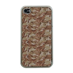 Camo Desert Apple Iphone 4 Case (clear) by trendistuff