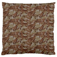 Camo Desert Large Flano Cushion Cases (two Sides)  by trendistuff