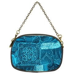 Blue Patchwork Chain Purses (one Side)  by trendistuff